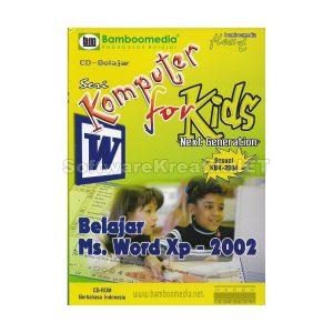 Bamboomedia Seri Komputer Untuk Anak : Belajar Microsoft Word XP – Sesuai KBK 2004
