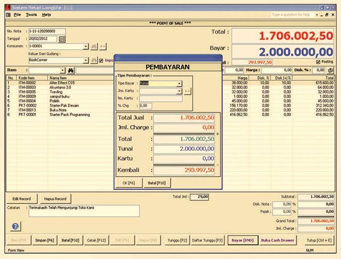 software penjualan stok barang longlife