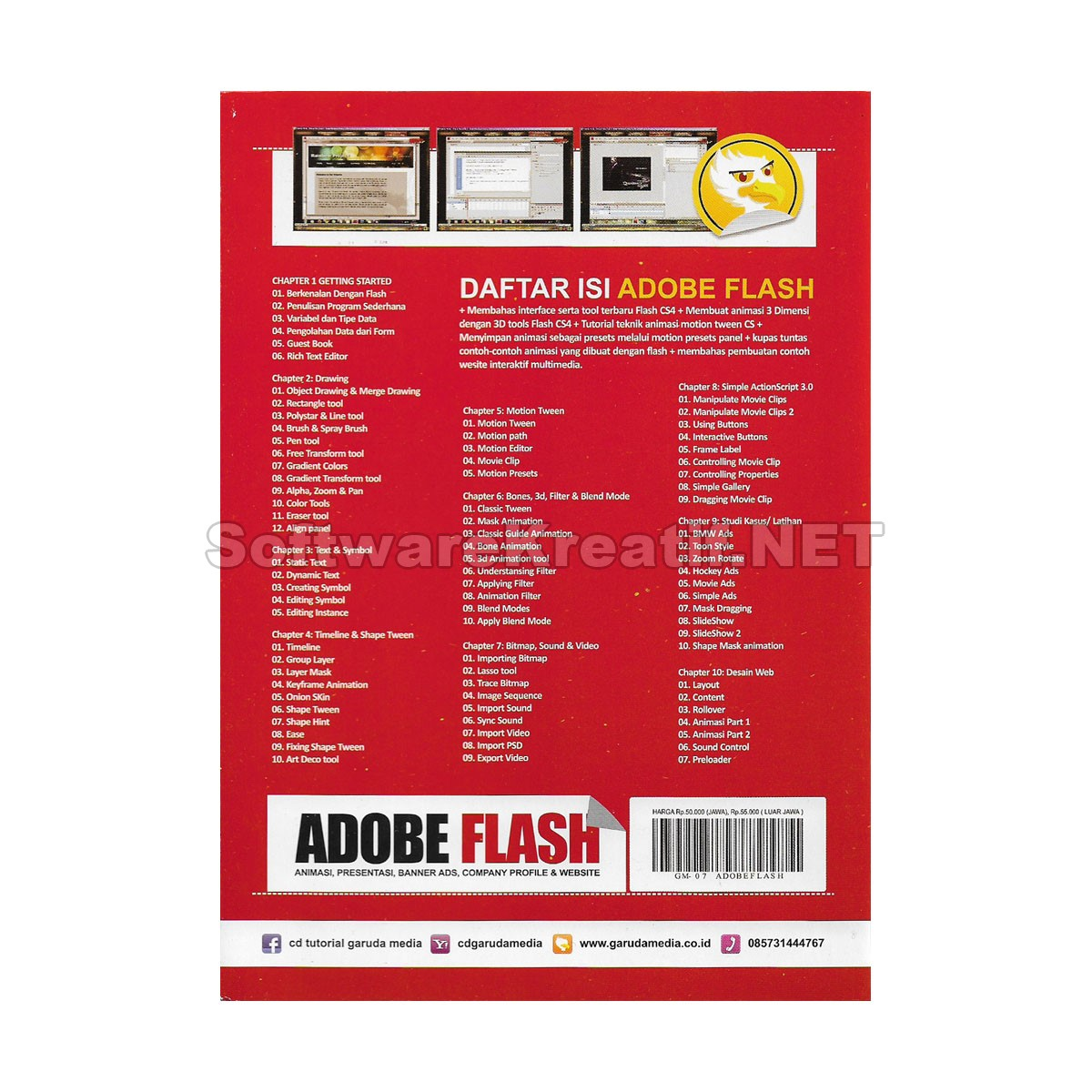 Jual Video Tutorial Adobe Flash Cs4 Membuat Animasi Presentasi