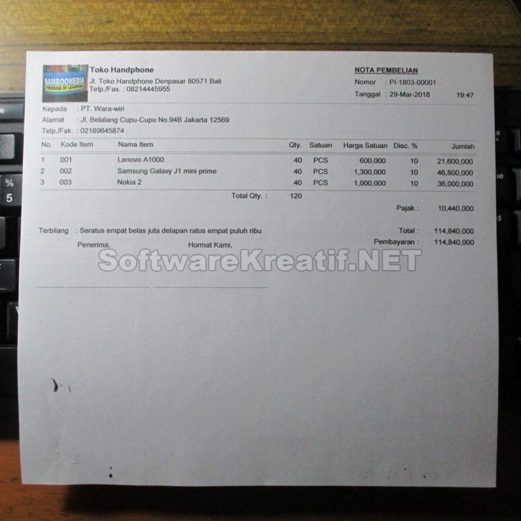 Contoh Database Penjualan Hp